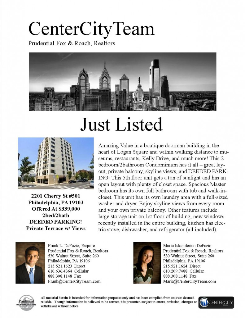 Just Listed - 2201 Cherry Street 501