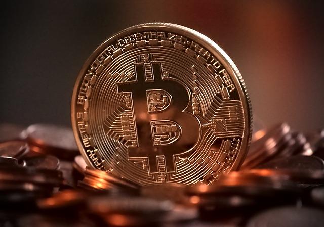 a pile of bitcoin.
