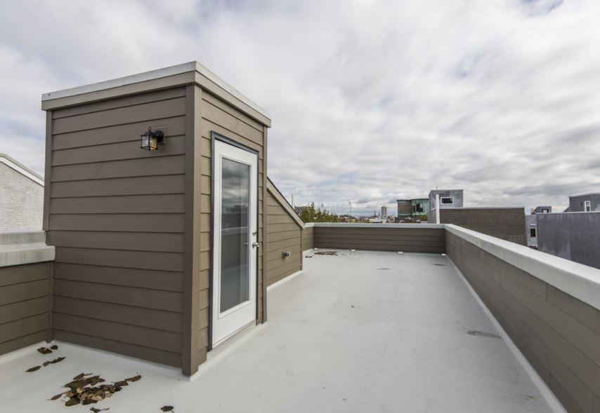 ... Full Tile Shower W/frameless Glass Enclosure, Walk In Closets U0026 Rear  Deck W/stairway To Huge Fiberglass Roof Deck. Full Finished Basement W/  Bathroom.